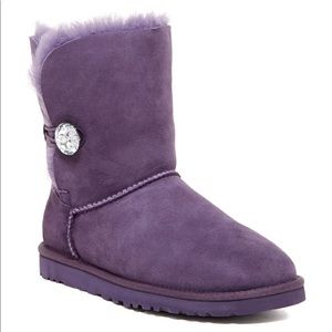 Ugg Bailey Button Bling Genuine Shearling Boot 7
